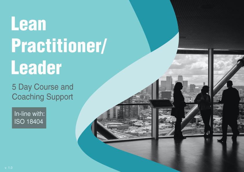 Ad for the Lean Practitioner/Leader course